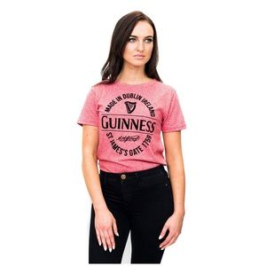 Women Guinness Red Stamp Grindle Cotton Fitted Tee